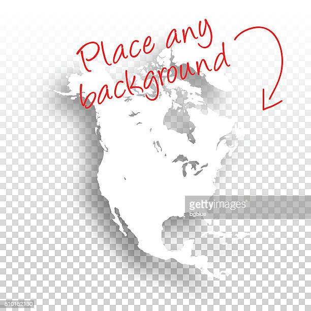 north america map for design - blank background - central america stock illustrations, clip art, cartoons, & icons