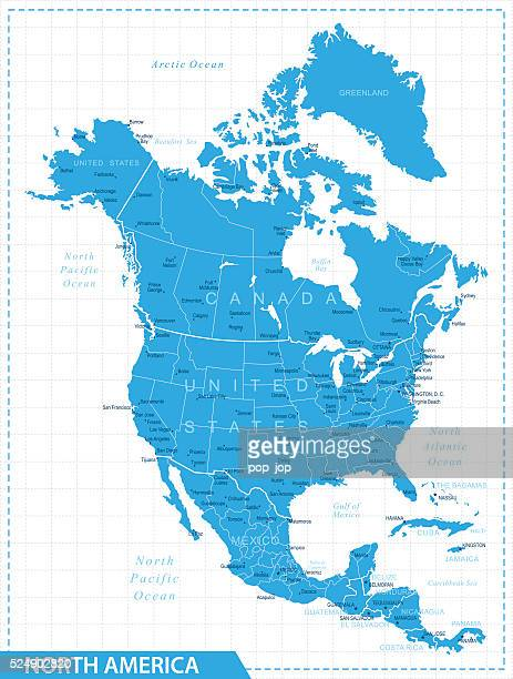 North America Map - Illustration