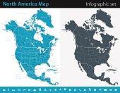 North America Map - Infographic Set