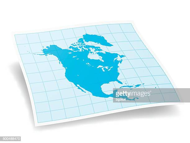 north america map isolated on white background - central america stock illustrations, clip art, cartoons, & icons