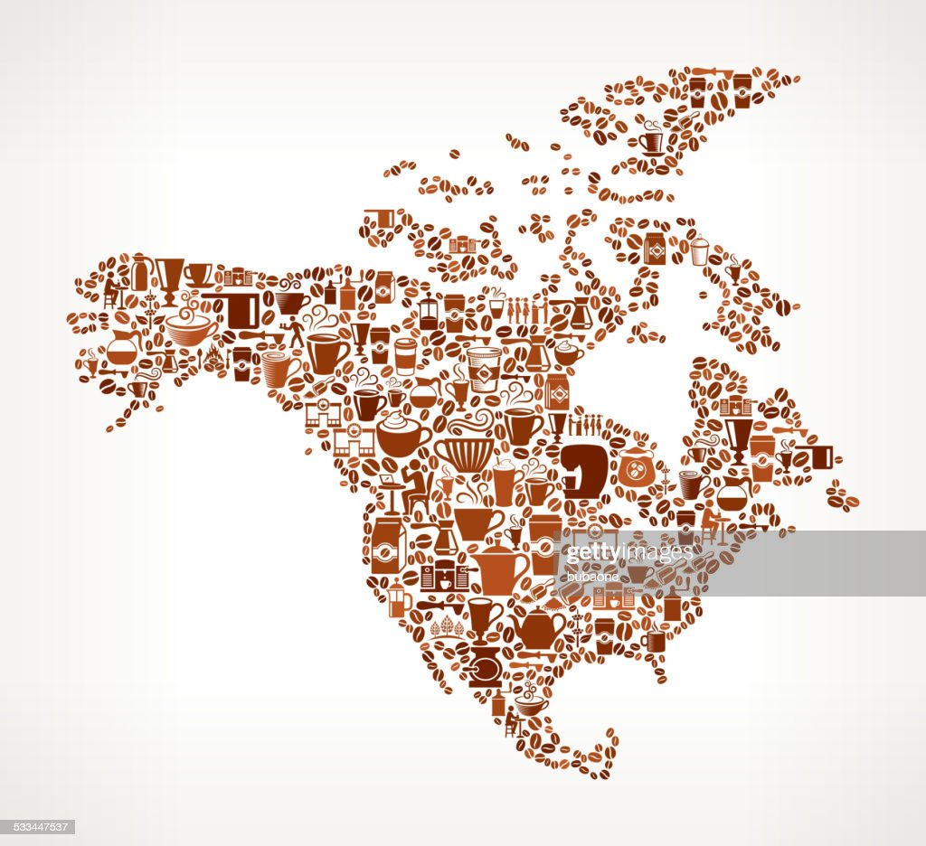 Free North America Map.North America Map Royalty Free Vector Coffee Background Graphic