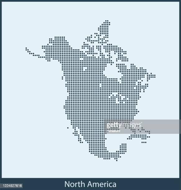 north america map - north america stock illustrations