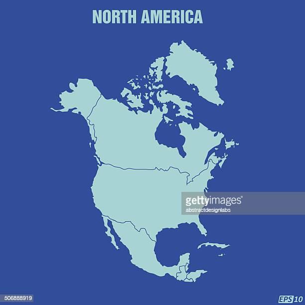 north america map - central america stock illustrations
