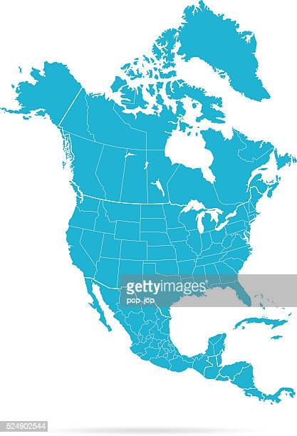 north america map - map stock illustrations