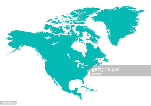 north america map - north america stock illustrations