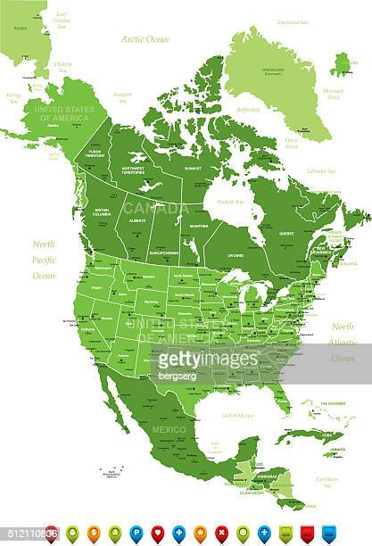 Nordamerika Karte-Vektor-Illustration