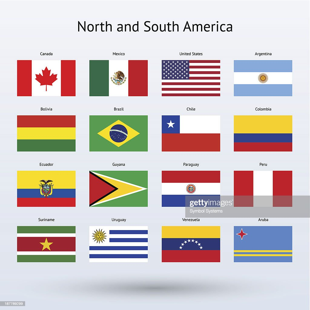 North and South America Flags Collection