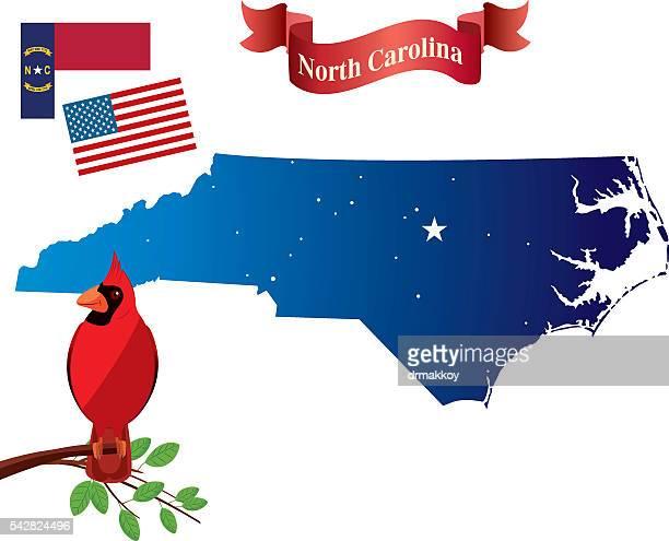 North carolina and Cardinal birds