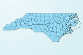 North Carolina blue map on degraded background vector