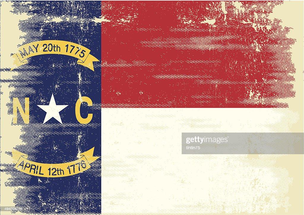 North Carolina grunge Flag