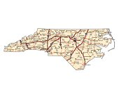 North Carolina Highway Map