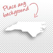 North Carolina Map for design - Blank Background