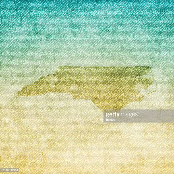 North Carolina Map on grunge Canvas Background