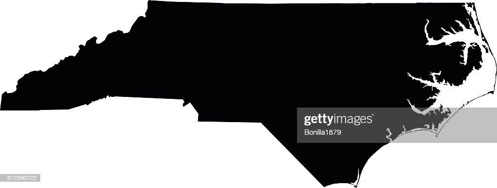 North Carolina map on white background vector