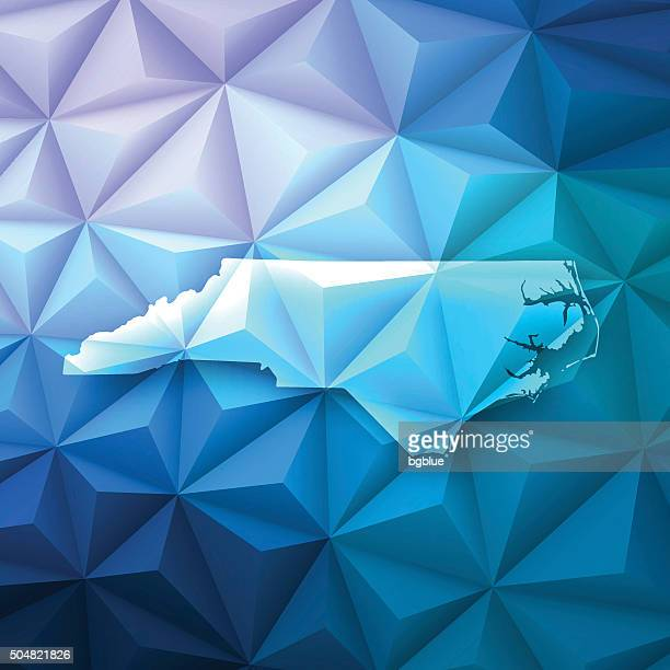 North Carolina on Abstract Polygonal Background - Low Poly, Geometric