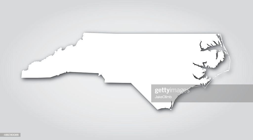 North Carolina Silhouette White