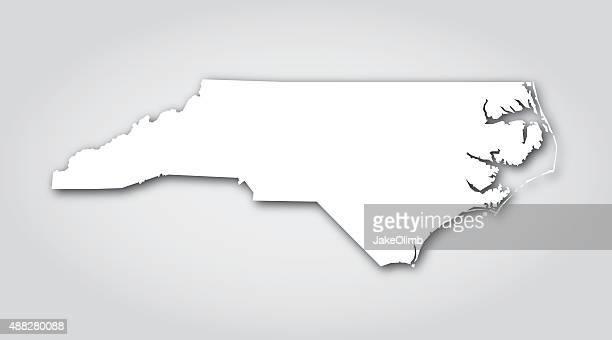 north carolina silhouette white - north carolina us state stock illustrations