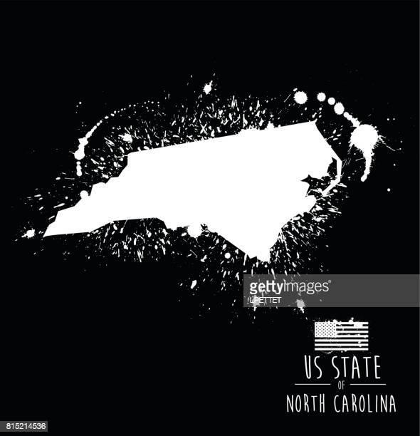 bildbanksillustrationer, clip art samt tecknat material och ikoner med north carolina state bläck splat grunge - illustration - north carolina amerikansk delstat