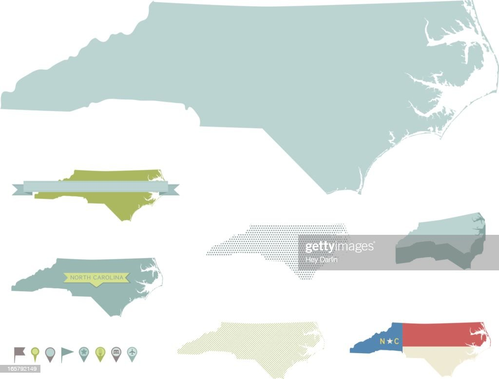 North Carolina State Maps Vector Art | Getty Images