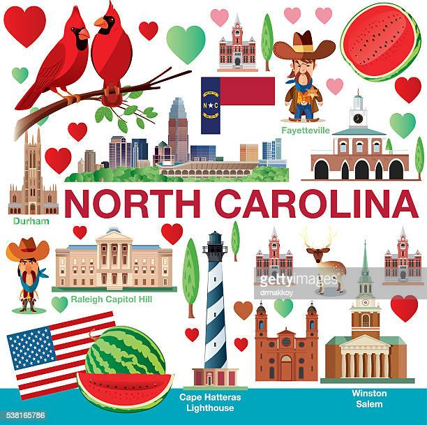 north carolina travels - fayetteville north carolina stock illustrations