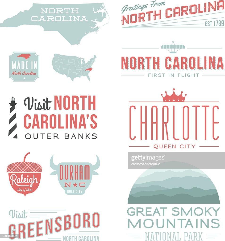 North Carolina Typography