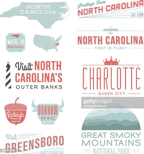 north carolina typography - queen royal person stock illustrations, clip art, cartoons, & icons