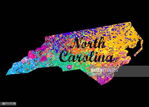 bildbanksillustrationer, clip art samt tecknat material och ikoner med north carolina - north carolina amerikansk delstat