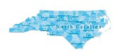 North Carolina Vector Map Isolated