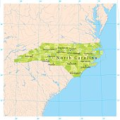 North Carolina Vector Map