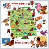 North Dakota and South Dakota