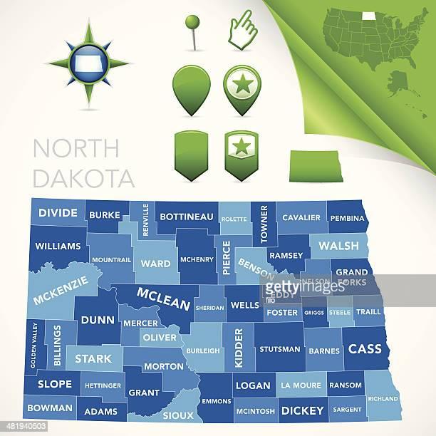 North Dakota County Map