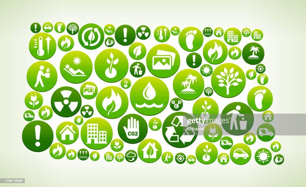 North Dakota Environmental Conservation Green Vector Button Pattern