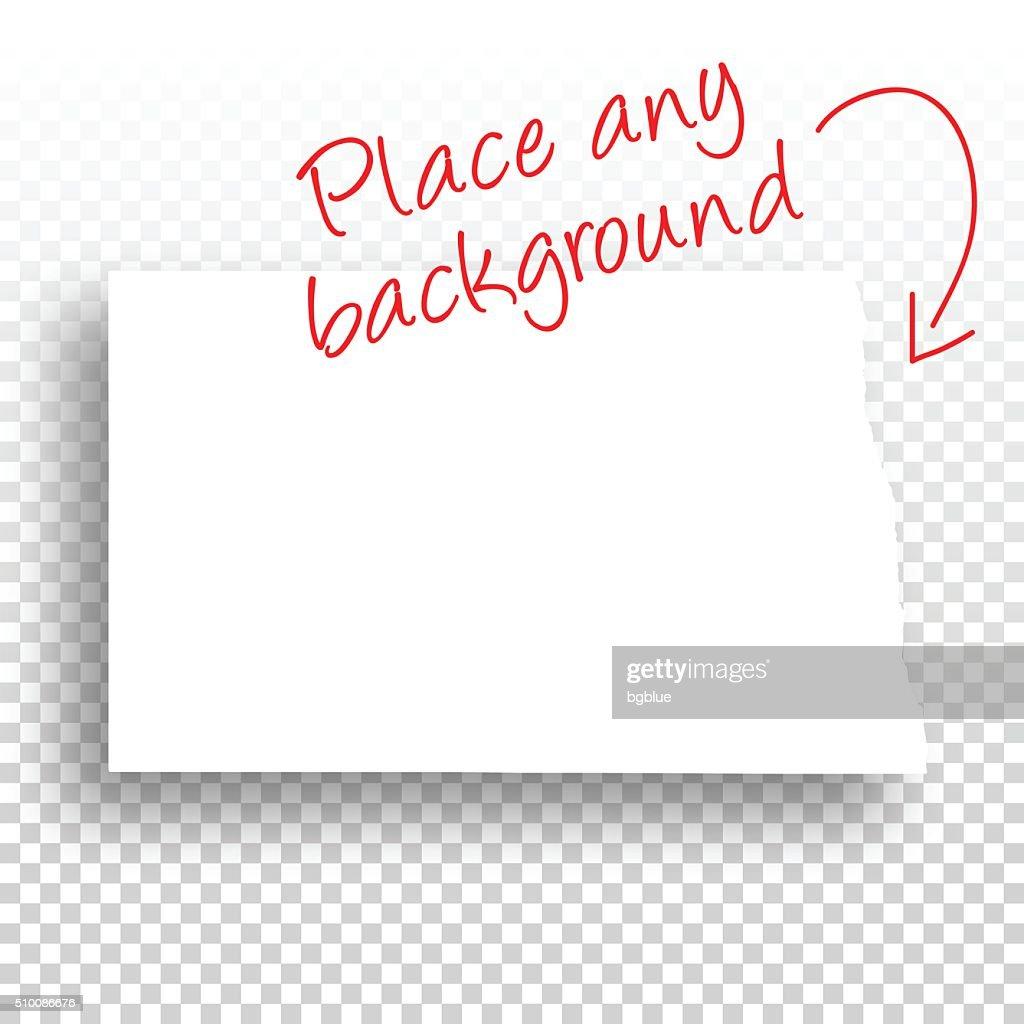 North Dakota Map for design - Blank Background
