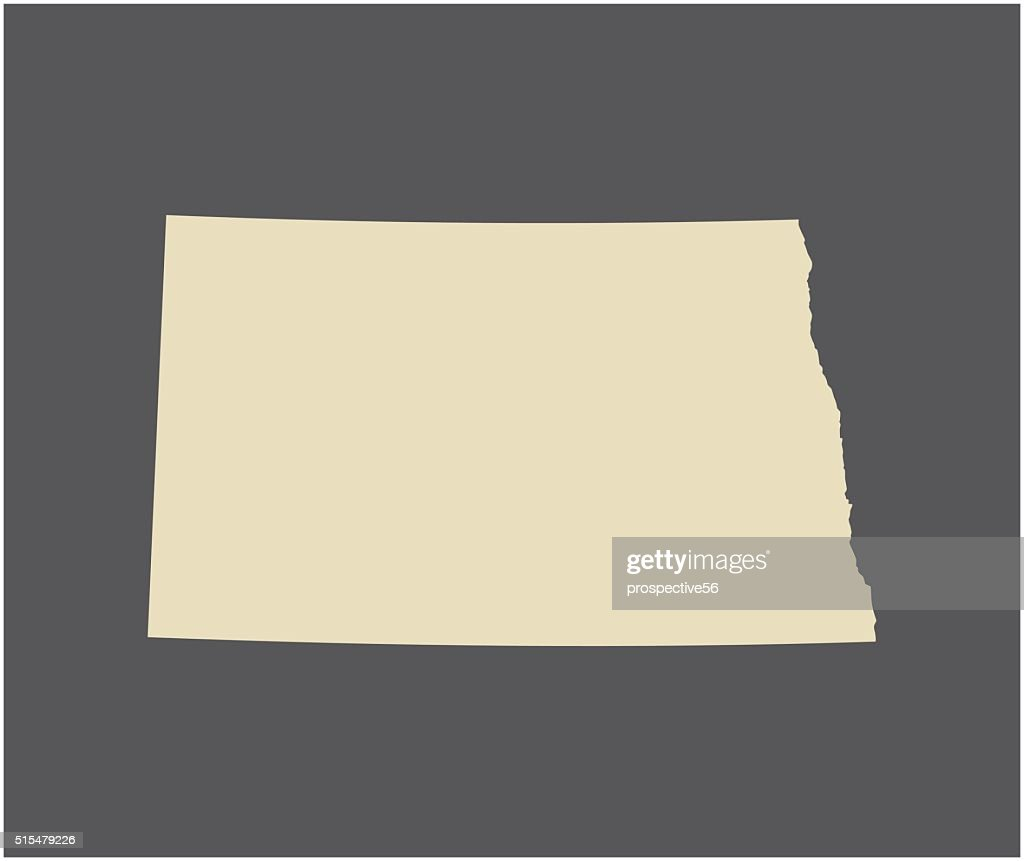 North Dakota map vector outline