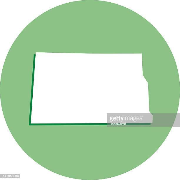 North Dakota Round Map icon