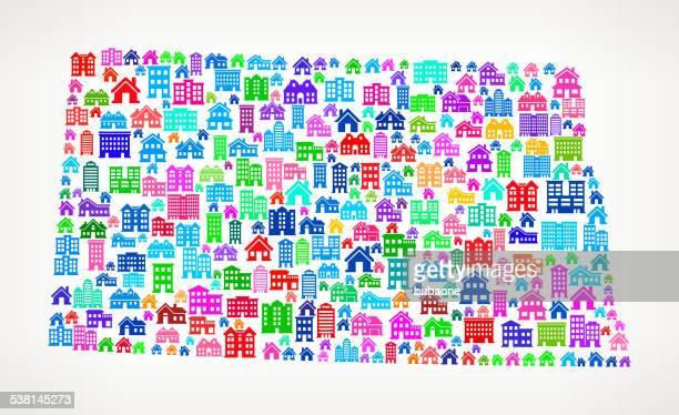 North Dakota State Real Estate interface icon Pattern