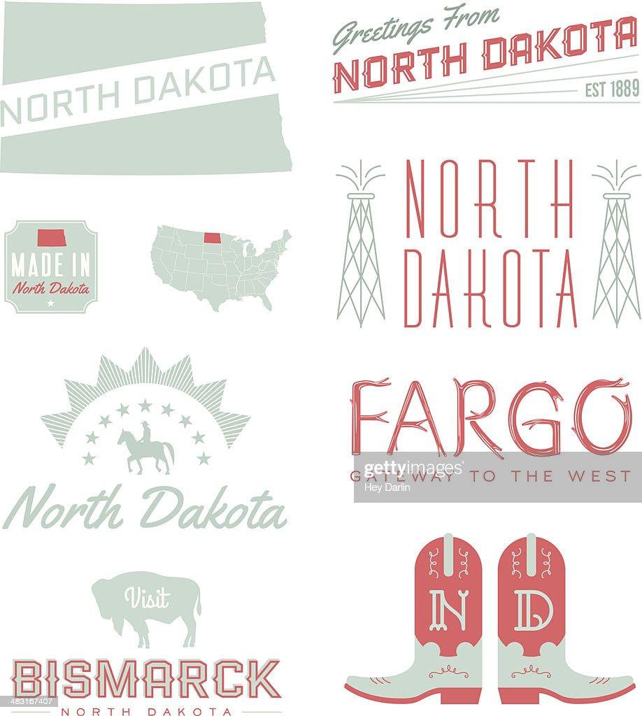 North Dakota Typography