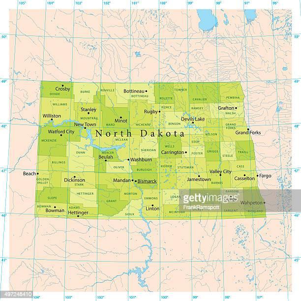 North Dakota Vector Map