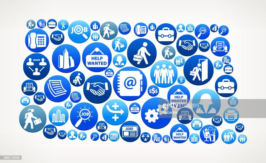 North Dakota Work And Employment Blue Vector Button Pattern Vector