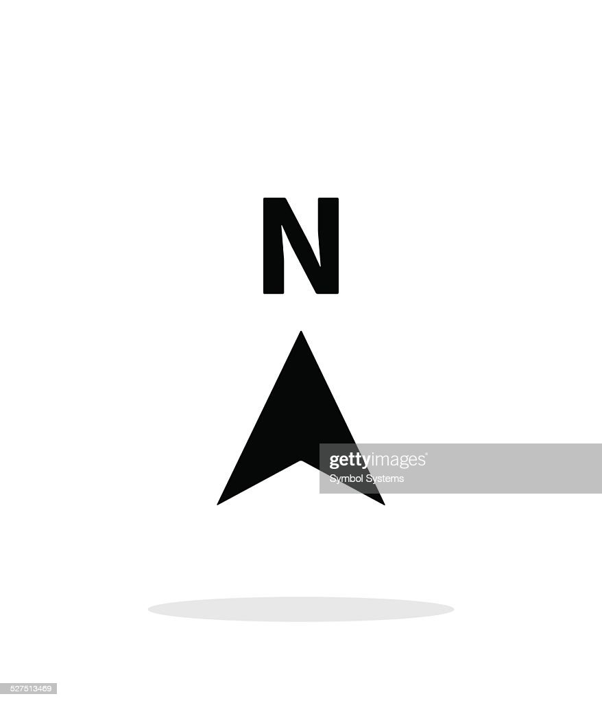 North direction compass icon on white background.