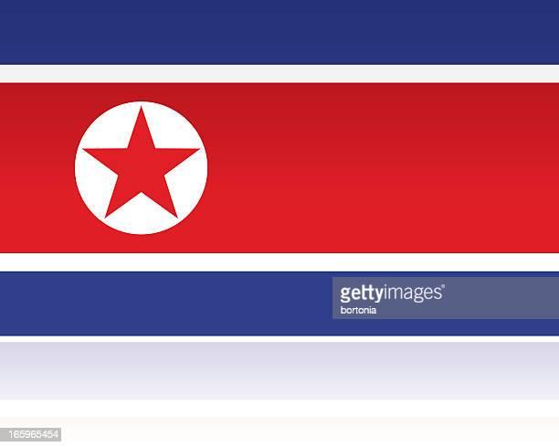 north korea country flag, eastern asia - north korea stock illustrations