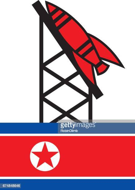 North Korea Flag Missle Launcher