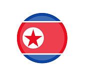 North Korea flag, official colors and proportion correctly. National North Korea flag. Vector illustration. EPS10