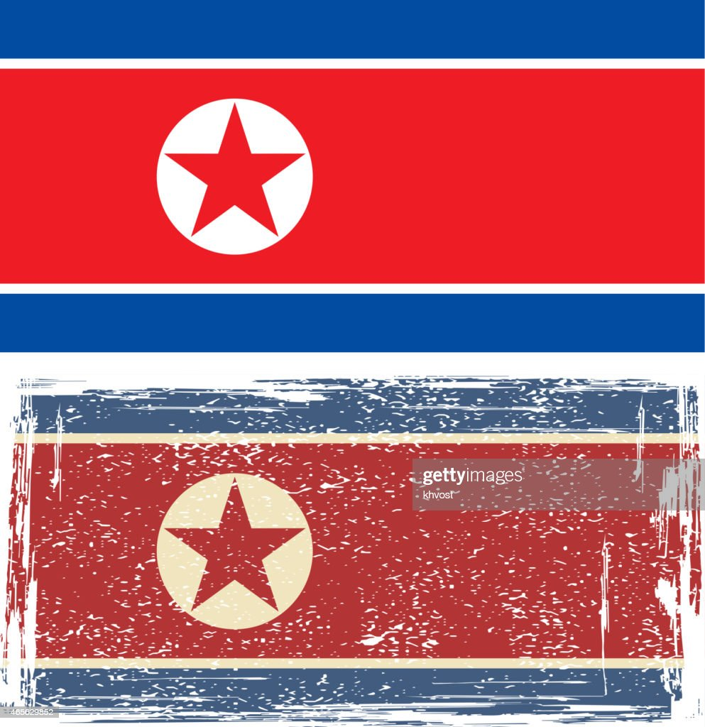 North Korea grunge flag. Vector illustration