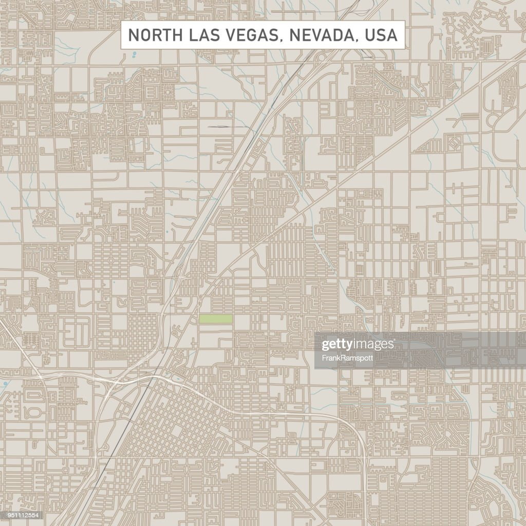 North Las Vegas Nevada Usstadt Karte Stock-Illustration ...