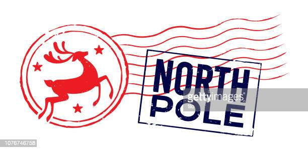 North Pole Holiday Christmas Postage Cancellation Mark