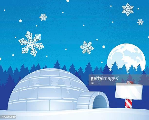 illustrations, cliparts, dessins animés et icônes de north pole igloo - igloo