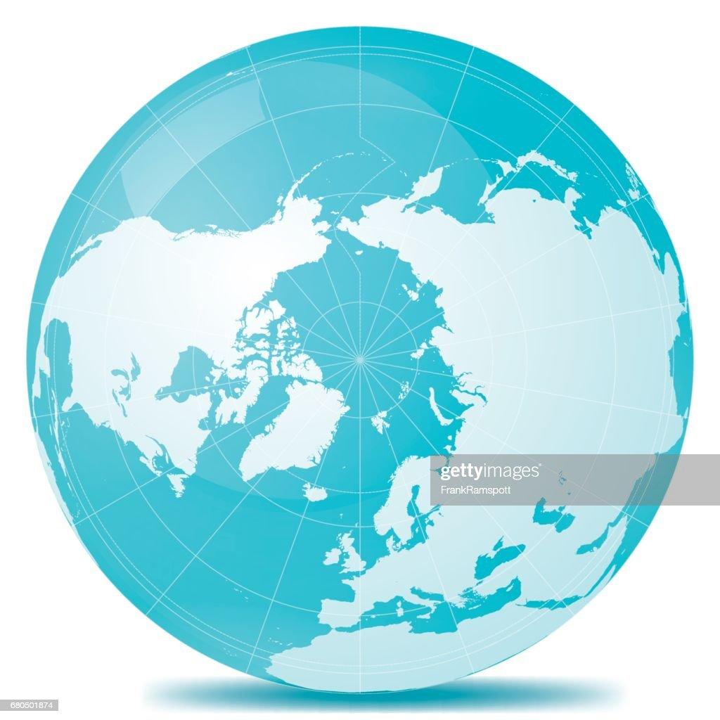 北極地球ブルー ホワイト : ストックイラストレーション