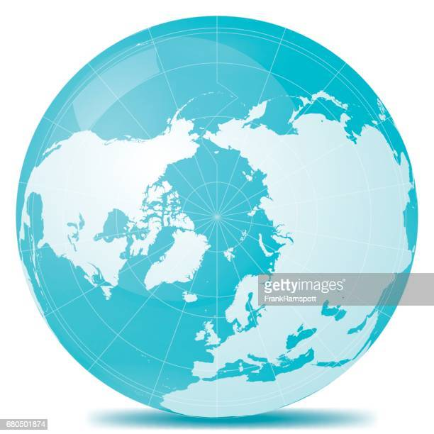 North Pole Planet Earth Blue White