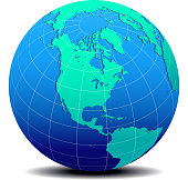 North, South, and Central AMERICA, Global World